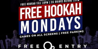 FREE HOOKAH MONDAYS @ O2 LOUNGE |  FREE HOOKAH TILL 10PM | $5 DRINKS TILL 10PM | FOOD ON PATIO |FREE ENTRY ALL NIGHT WITH RSVP | FOR INFO TEXT 8323383829 OR @DSAM09 ON INSTAGRAM