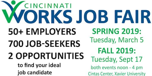 Cincinnati Works 2019 Job Fairs