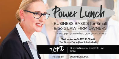 Power Lunch for Solo and Small Law Firms (Jan 16, 2019)