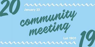 2019 Community Meeting