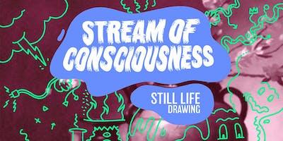 Stream of Consciousness Still Life Drawing