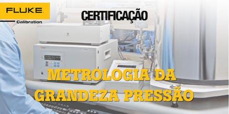 Certificação  de Metrologia Da Grandeza Pressão e Cálculo de Incerteza ingressos
