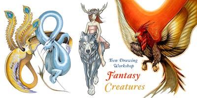 Teen Drawing Workshop Series - Fantasy Creatures