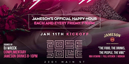 The Return Of Feel Good Friday's Happy Hour At Rose Gold