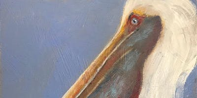 "318! PAINT EVENT "" Great White Pelican""- A White Pelican painting guided by Louisiana wildlife artist Carla Davis."
