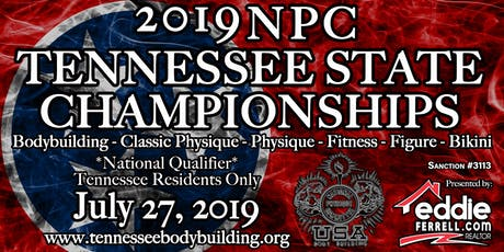 2019 NPC Tennessee State Championships: Bodybuilding, Classic Physique, Physique, Fitness, Figure, and Bikini Show Ticket tickets