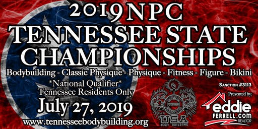 2019 NPC Tennessee State Championships: Bodybuilding, Classic Physique, Physique, Fitness, Figure, and Bikini Show Ticket