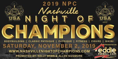 2019 NPC Nashville Night of Champions Athlete Registration tickets