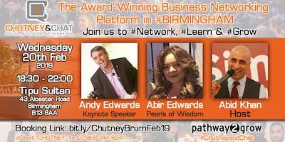 Chutneyandchat Business Networking Birmingham Wed Th Feb
