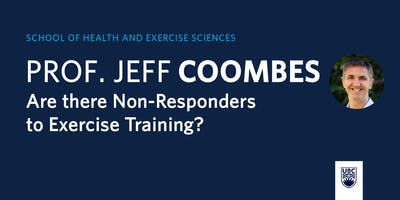 School of Health and Exercise Sciences presents Prof. Jeff Coombes