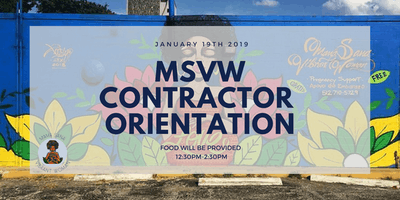 MSVW Contractor Orientation