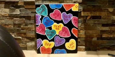 Conversation Hearts Painting Party