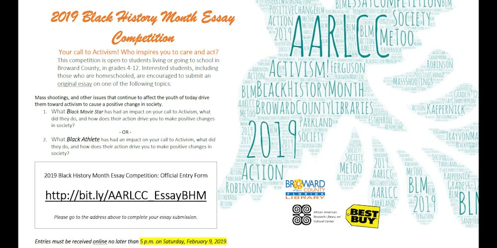 English Essay Short Story  Black History Month Essay Competition Tickets Tue Jan   At   Am  Eventbrite Proposal Example Essay also Premium Writing Service  Black History Month Essay Competition Tickets Tue Jan   Theme For English B Essay