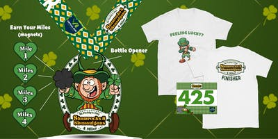 Shamrocks & Shenanigans Virtual 4 Mile Run/Walk - Oceanside