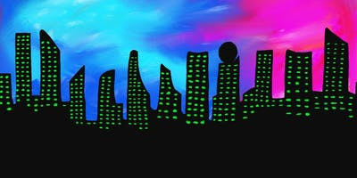 City Lights Glow in the Dark Sip and Paint