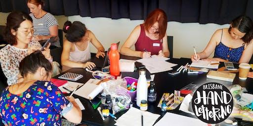 Brisbane Hand Lettering December Meetup
