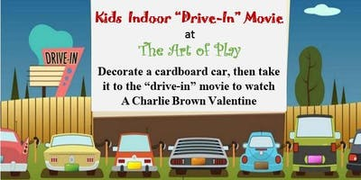 """Kids Indoor """"Drive-In"""" Movie - Valentines Day Themed"""