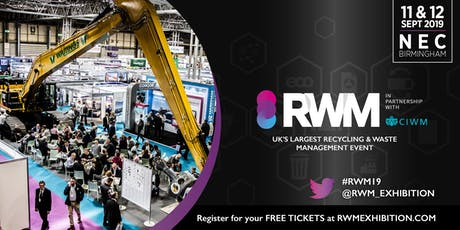 RWM 2019 - the Recycling & Waste Management exhibition tickets