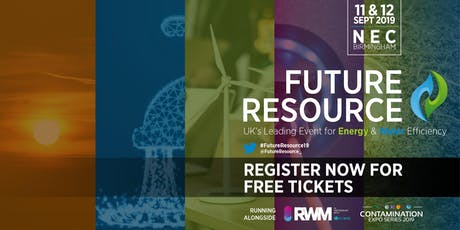 Future Resource 2019 - The Event for Water & Energy Efficiency tickets