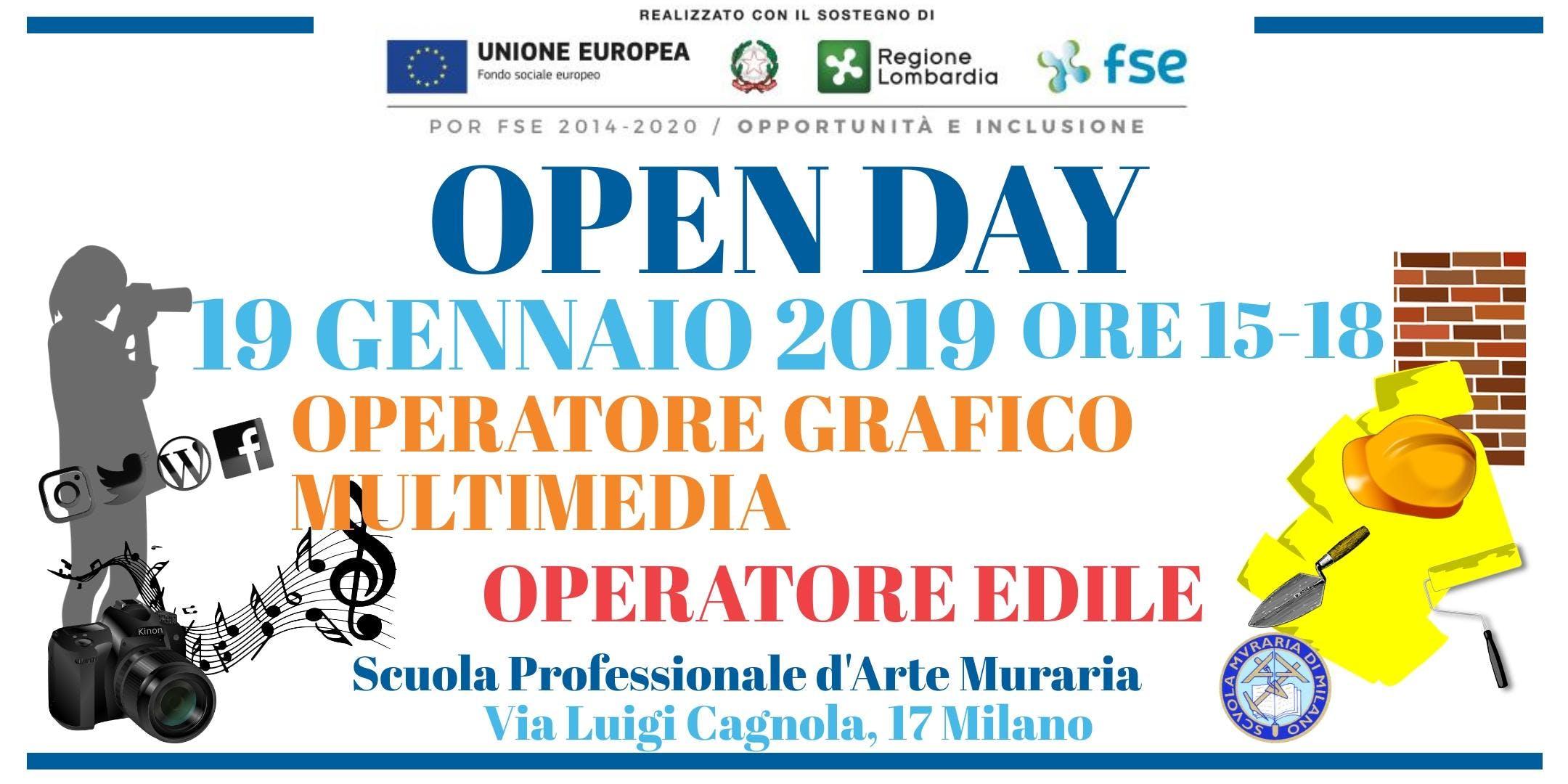 Open day Operatore grafico multimedia e operatore edile