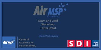 Air MSP COESD Learn and Lead Workshop
