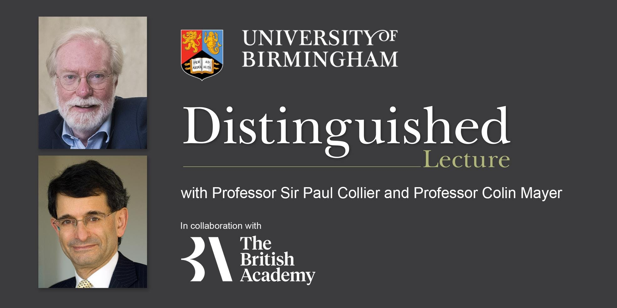 The Vice-Chancellor's Distinguished Lecture w