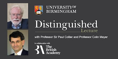 The Vice-Chancellor's Distinguished Lecture with the British Academy