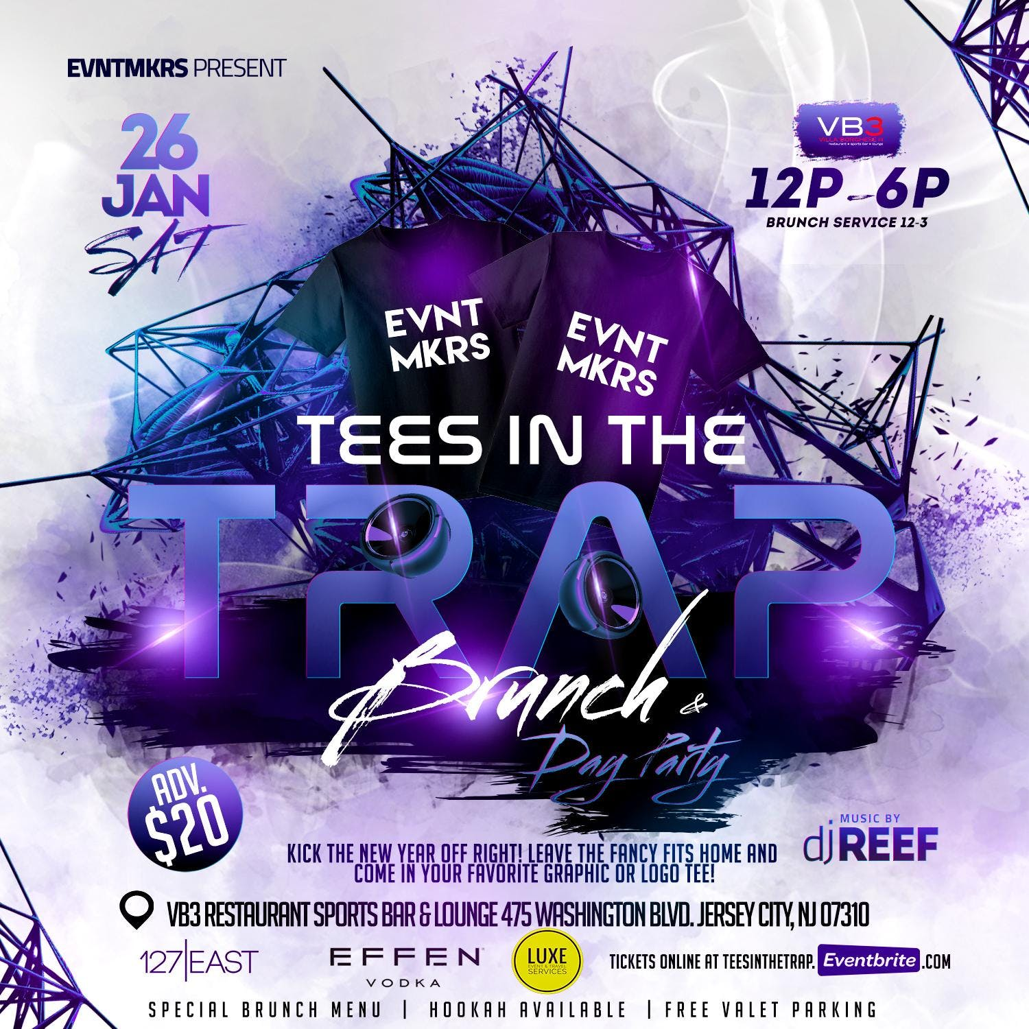 84d1fb68e Tees in the Trap Brunch - 26 JAN 2019