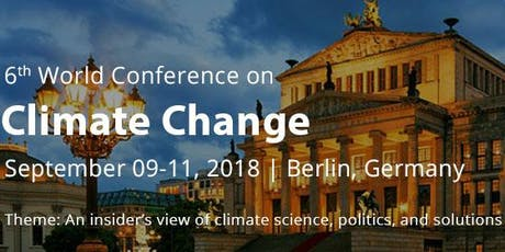 6th World Conference on  Climate Change Tickets