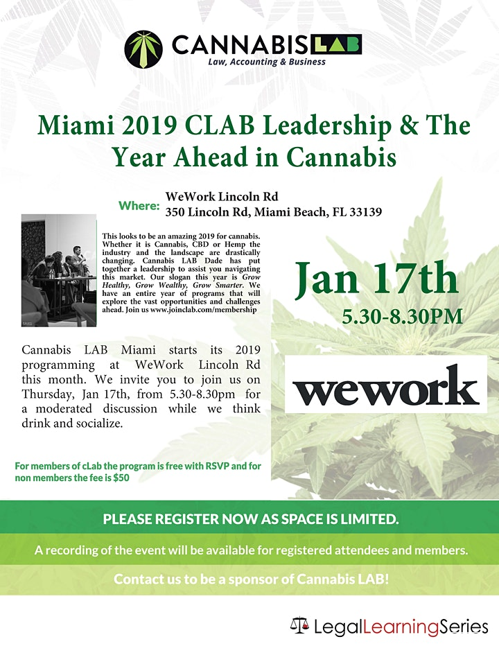 Miami CLAB 2019 Leadership & The Year Ahead in Cannabis image