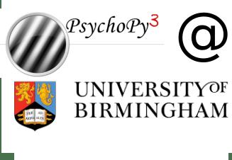 PsychoPy workshop at the University of Birmingham