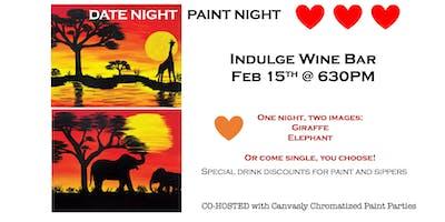 Indulge Wine Bar: DATE NIGHT PAINT NIGHT