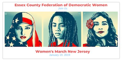 Essex County Federation of Democratic Women Supports NJ Women's March