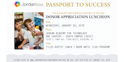 2019 Jordan Education Foundation Donor Appreciation Luncheon