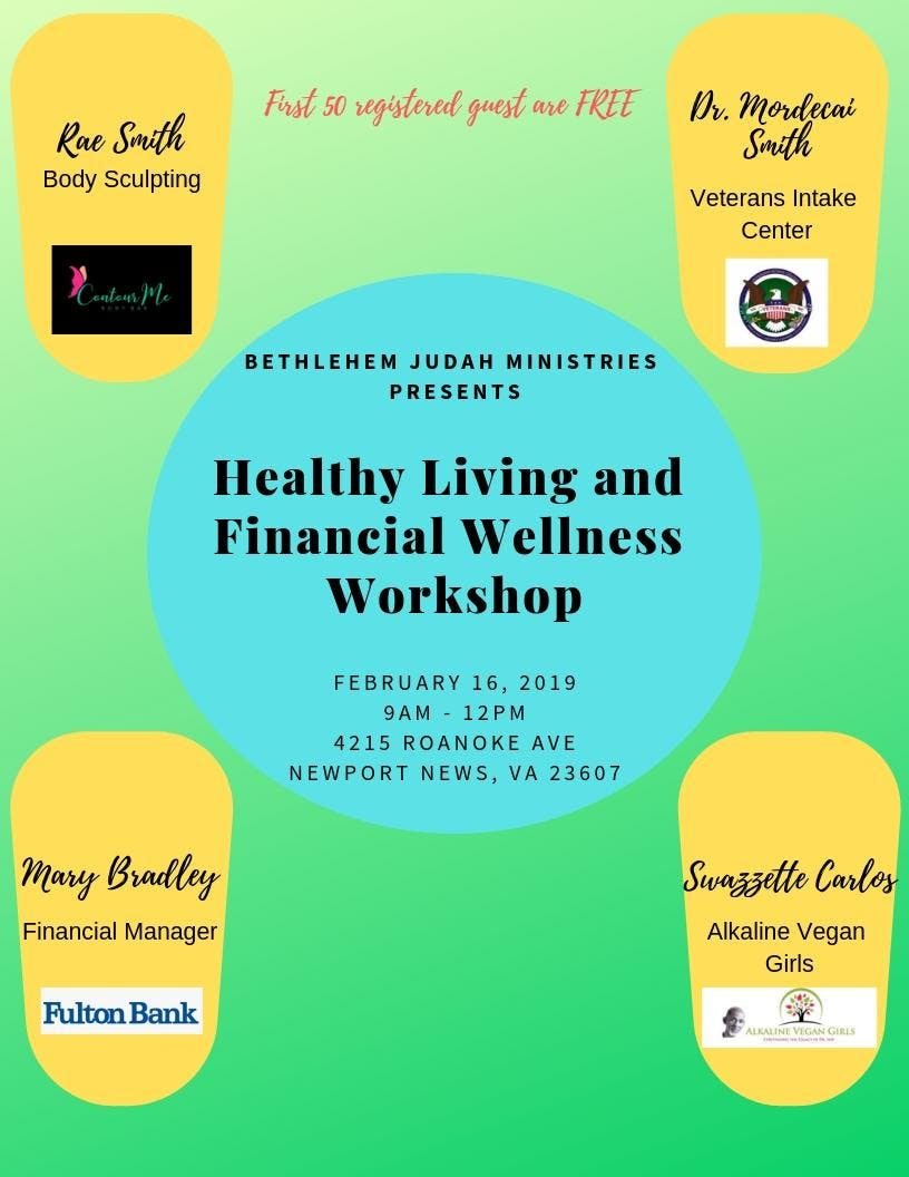 Healthy Living And Financial Wellness Workshop 16 Feb 2019