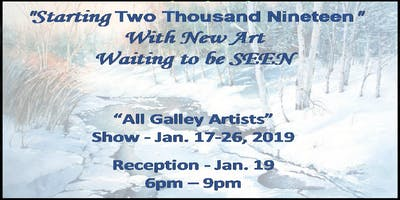 """New Year, New Work"" All Gallery Artists Show & Reception"