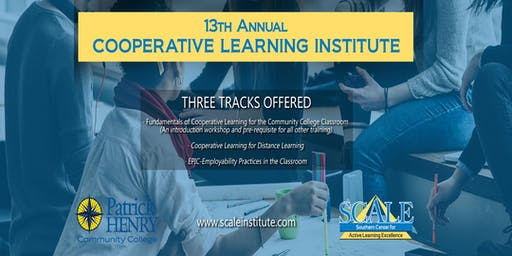 13th Annual SCALE Cooperative Learning Institute 2019