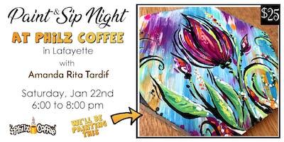 Paint & Sip at Philz Coffee in Lafayette (Jan 22)