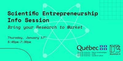 Scientific Entrepreneurship Info Session: Bring your Research to Market