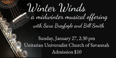 UUCS Alla Breve Concert Series presents: Sara Breyfogle & Bill Smith
