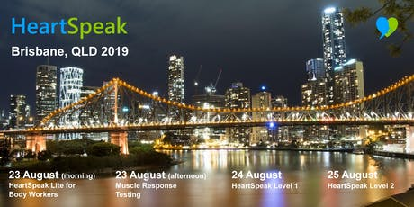 HeartSpeak - 4 Courses - 23 to 25 August 2019 - Brisbane, Australia tickets