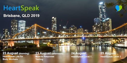HeartSpeak - 4 Courses - 23 to 25 August 2019 - Brisbane, Australia