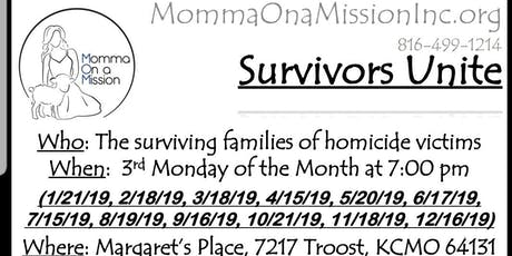 Survivors Unite - Monthly Group Meetings tickets