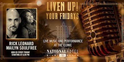 Friday night LIVE music at The National Hotel Miami Beach