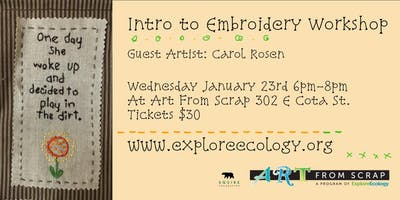 Intro to Embroidery Workshop