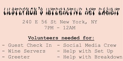 **VOLUNTEERS FOR AN ART SHOW IN NYC**