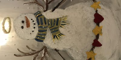 Snow Angel with Heart (Glass Painting)