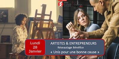 Réseautage Artiste-Entrepreneur, Soirée Bénéfice (Encan Société de recherche sur le cancer)