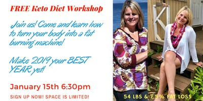 Keto Weight Loss Workshop  (FREE) - Make 2019 your BEST YEAR yet!