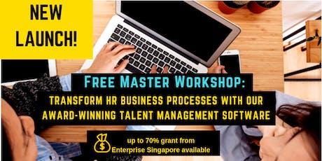 MASTER WORKSHOP: TRANSFORM HR BUSINESS PROCESSES  tickets
